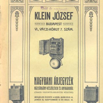Klein József házisürgöny (telefon) készülékek