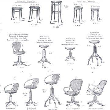 Thonet hajlított bútor