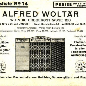 Alfred Woltär redőnyök rácsok