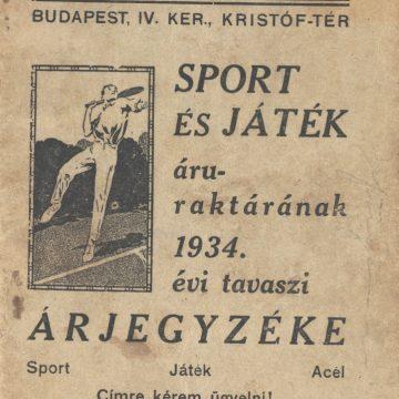 Kertész Tódor Sport és Játék árjegyzéke
