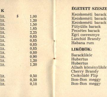 Diplomata bolt árjegyzék