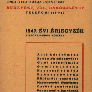 Lengyel István Gumiáruk gyári raktára