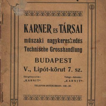 Karner és Társai szerszám árjegyzéke