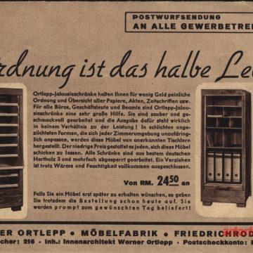 Werner Ortlepp bútor árjegyzék