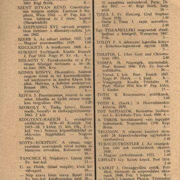 Bendetz és társa könyvárjegyzék '42