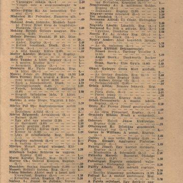 Adorján testvérek könyvárjegyzéke '42