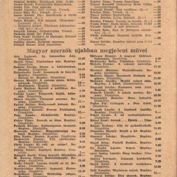 Adorján testvérek könyvárjegyzéke '43