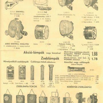 Beck Márton világítási árlap 1939