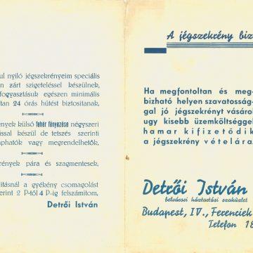 Detrői István jégszekrény