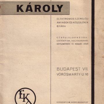 Engel Károly EKA csillár 1935