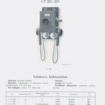 Ericsson induktoros telefonok 1914