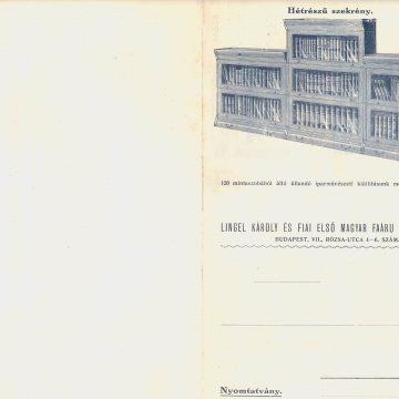 Lingel összerakható könyvszekrény