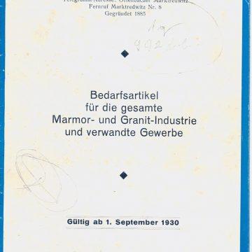 Emil Offenbacher kőfaragó szerszámok