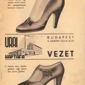 Stauber Gyula bőr és cipőfelsőrész 1935