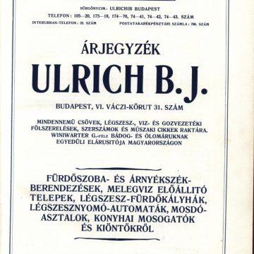 Ulrich fürdőszoba árjegyzék
