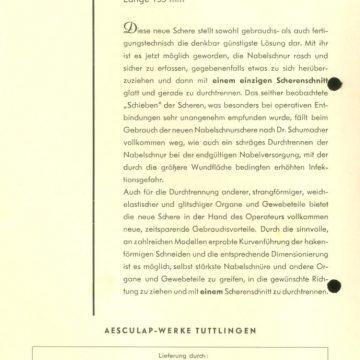 Köldökzsinór-ollók Aesculap
