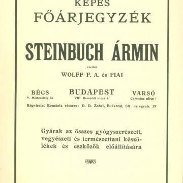 Steinbuch Ármin gyógyszerészeti, vegyészeti készülékek
