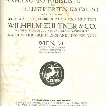 ZEWE Wilhelm Zultner & Co fegyver árjegyzék