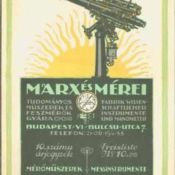 Marx és Mérei tudományos műszerek 10.sz.