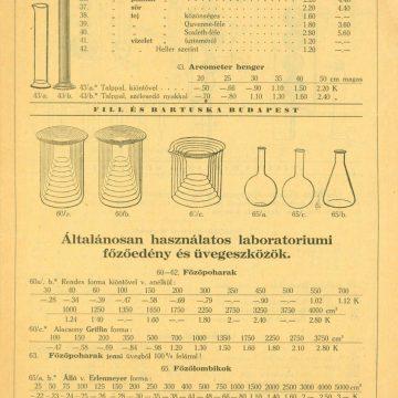 Fill és Bartuska laboratóriumi eszközök