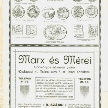 Marx és Mérei tudományos műszerek 9.sz.