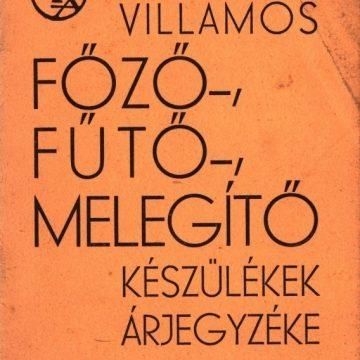 Engel Károly EKA Villamos főző- és fűtőkészülékek 1935