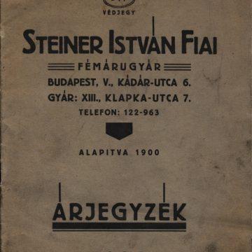Steiner István fémáru 1938