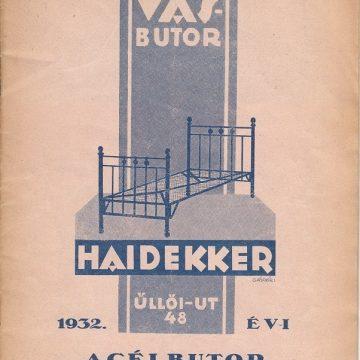 Haidekker acélbútor 1932