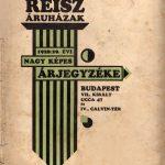 Reisz Áruházak 1928/29