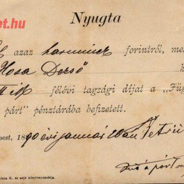 Párt tagsági díj 1890