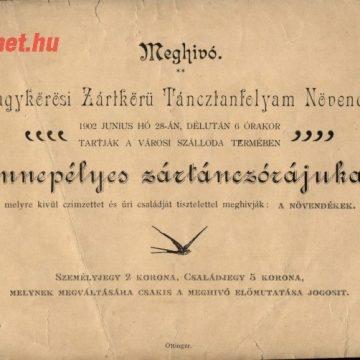 Táncbemutató belépő 1902