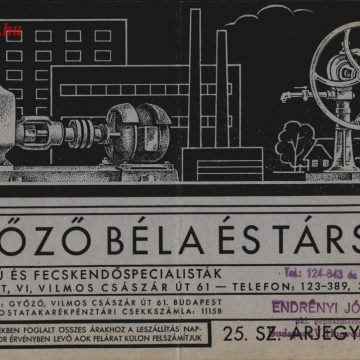 Győző Béla szivattyúk 1940
