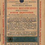 Királyi központi mintapincze bor árjegyzéke 1897