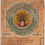 Kommer Ferencz bor és sör 1885